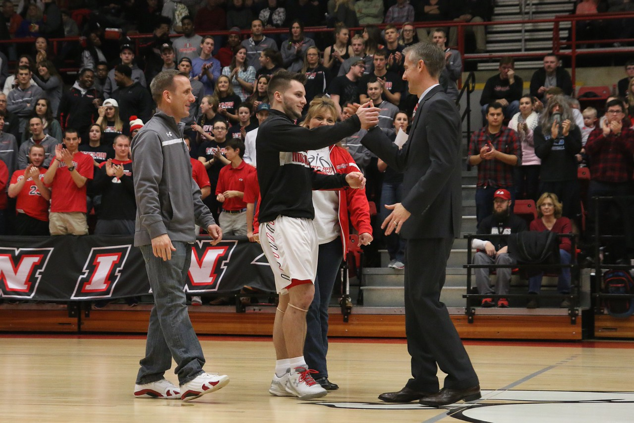 GWU's mens basketball team faced Charleston Southern with a win in honor of senior night