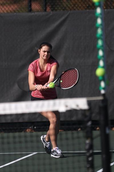Gardner-Webbs's women's tennis team competes against Limestone for home season opener Tuesday, February 2, 2015.