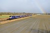 23 February 2015 :: 43132 heads 1C84, the 1406 from Paddington to Penzance at Manningford while a rainbow has conveniently appeared.