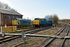 13 February 2015 :: 50007 is now passing into The Yeovil Railway Centre passing D400 (50050) which it had come to collect