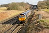 6 February 2015 :: 66754 with 66763 pass Potbridge working light as 0Y67 from Hoo Junction to Eastleigh