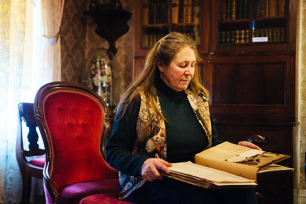 JOED VIERA/STAFF PHOTOGRAPHER- Lockport, NY-Karen Sherwood sits at the Niagara County History Center. Monday, January, 19, 2015