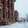 JOED VIERA/STAFF PHOTOGRAPHER- Lockport, NY-Snow falls on Main Street. Thursday, January, 29, 2015