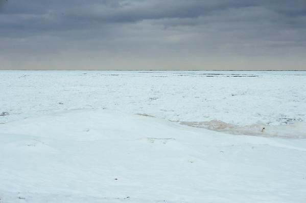 JOED VIERA/STAFF PHOTOGRAPHER- Olcott, NY- Lake Ontario is frozen over . Wednesday, February, 25, 2015