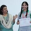 Senior Wing coordinator - Ms. Meenakshi Guha with Sanjana Putta - the Star performer of Cambridge IGCSE examinations 2015.