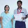 Vice Principal Mrs. Rama with Varin Nari - the star performer of Cambridge IGCSE examinations 2015.