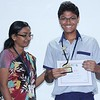 Middle Wing Coordinator Ms. Swapna Kannedi with, Vedant Patwari  (Stage 9) -  the star performer in  the Secondary Checkpoint Examinations 2015