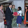 Professor Sridhar Seshadri, the Chief Guest of the event, being welcomed.