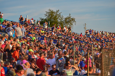 Florence Speedway backstretch crowd