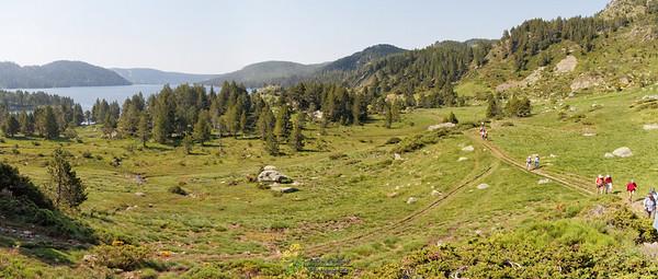 Bouillouses-Aude,  GR10 le long du lac des Bouillouses