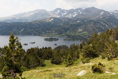 Bouillouses-Aude,  Mont Llaret, vue sur les Bouillouses et le Puig Carlit