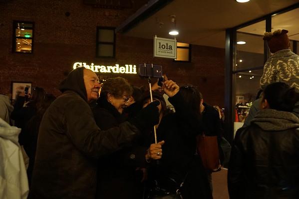 Ghirardelli Square tree lighting 12/15