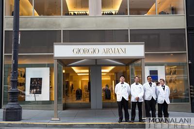Giorgio Armani Charles Haley event