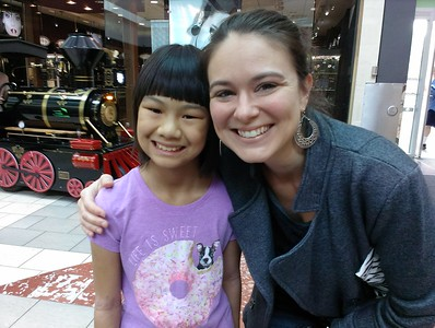 Kaara meets Kristen Greene, who was our adoption coordinator, helping us with the paperwork and travel.