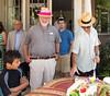 Grandpa Edmund by the birthday cake