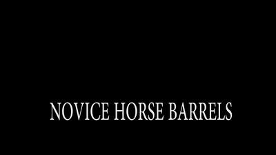 NOVICE HORSE BARRELS