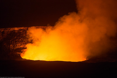 Halema'Uma'U Crater, Kilauea, Hawaii Volcanoes National Park