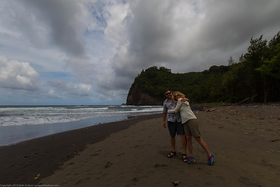 Black Sand Beach, Polulu Valley