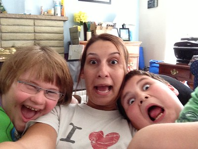 Goofy Selfie at Home with my Siblings