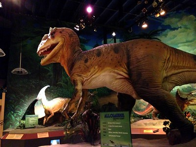 Dinosaur Exhibit at the Pacific Science Center in Seattle, Washington