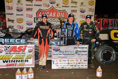 Jesse Stovall (L), Scott Bloomquist (M), and Jimmy Owens  (R)