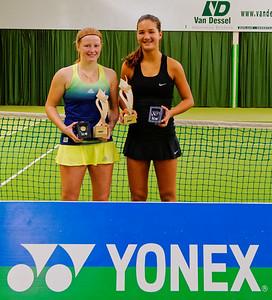 111. Lara Salden en Merel Hoedt - ITF Heiveld junior indoor open 2015_11