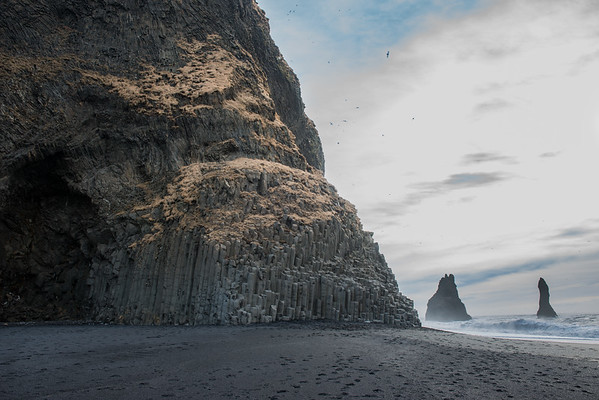 We found our way at Reynijsfall and Reynisdrangar, the crazy basalt Sea Stacks. I hadn't actually been to this exact spot before. In my previous trip we ran out of time and didn't get to stop here, so I made sure to do it this time!