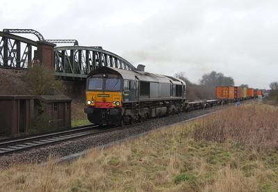 66418 Battledown 12/01/13 4O14 Crewe Basford Hall to Southampton