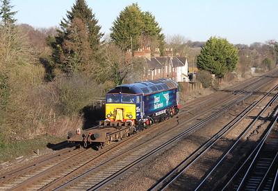 57306 Worting Junction 19/01/15 6Z68 Eastleigh to Willesden