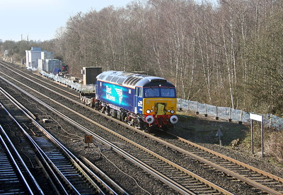 57306 Worting Junction 19/01/15 6Z68 Eastleigh to Willesden