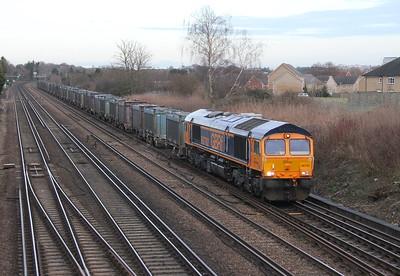 66762 Worting junction 17/01/15 4Y19 Mountfield to Southampton Western Docks