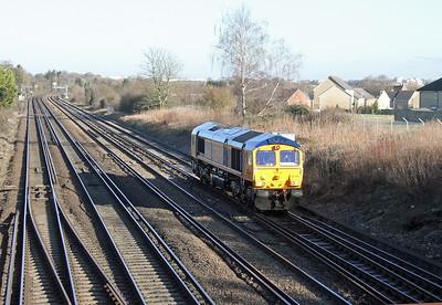66766 Worting Junction 19/01/15 0Y67 Hoo Junction to Eastleigh