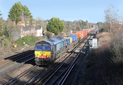 66420 Worting Junction 19/01/15 4O54 Leeds to Southampton