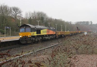 66846 Micheldever 01/01/15 6Y44 Hoo Junction to Eastleigh