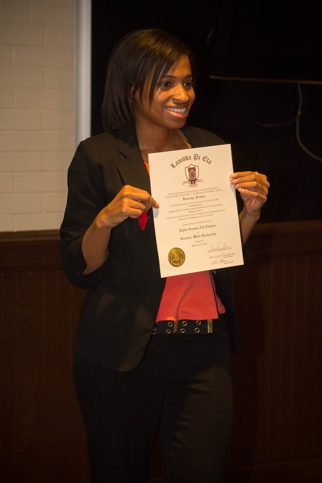 New member Kanisha Folwer poses for a picture.