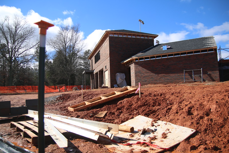 Gardner-Webbs softball field under construction on January 24 ,2015