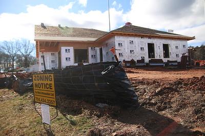 Gardner-Webbs softball field under construction on January 24 ,2015