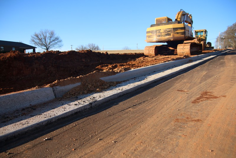 Stadium Drive has been under construction for over 3 months, while sidewalks and the road are still left unfinished.