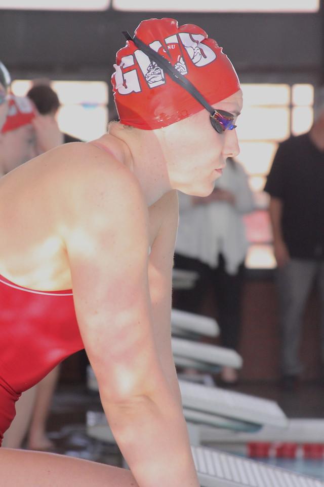 Taylor Schwartz prepares for her race.