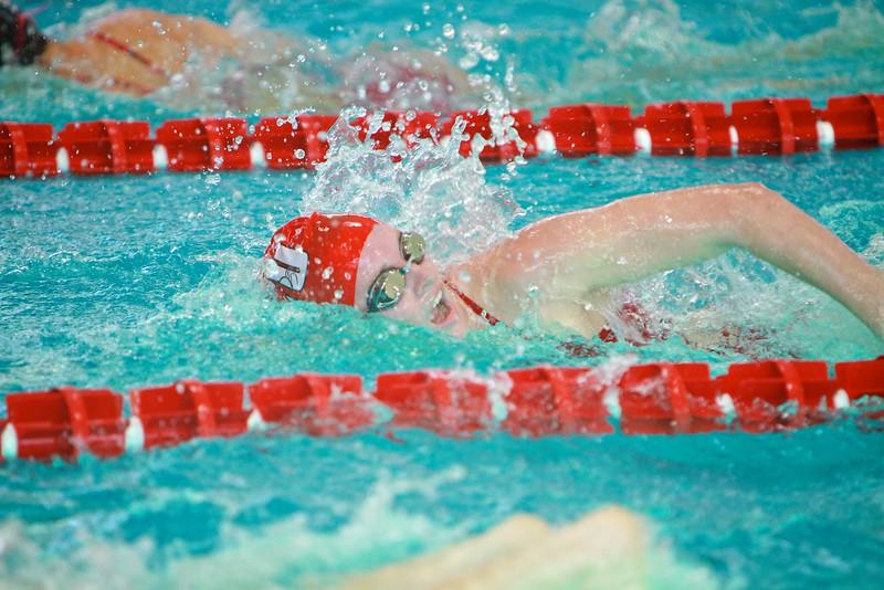 Senior Day Swim meet versus Davidson; Spring 2015