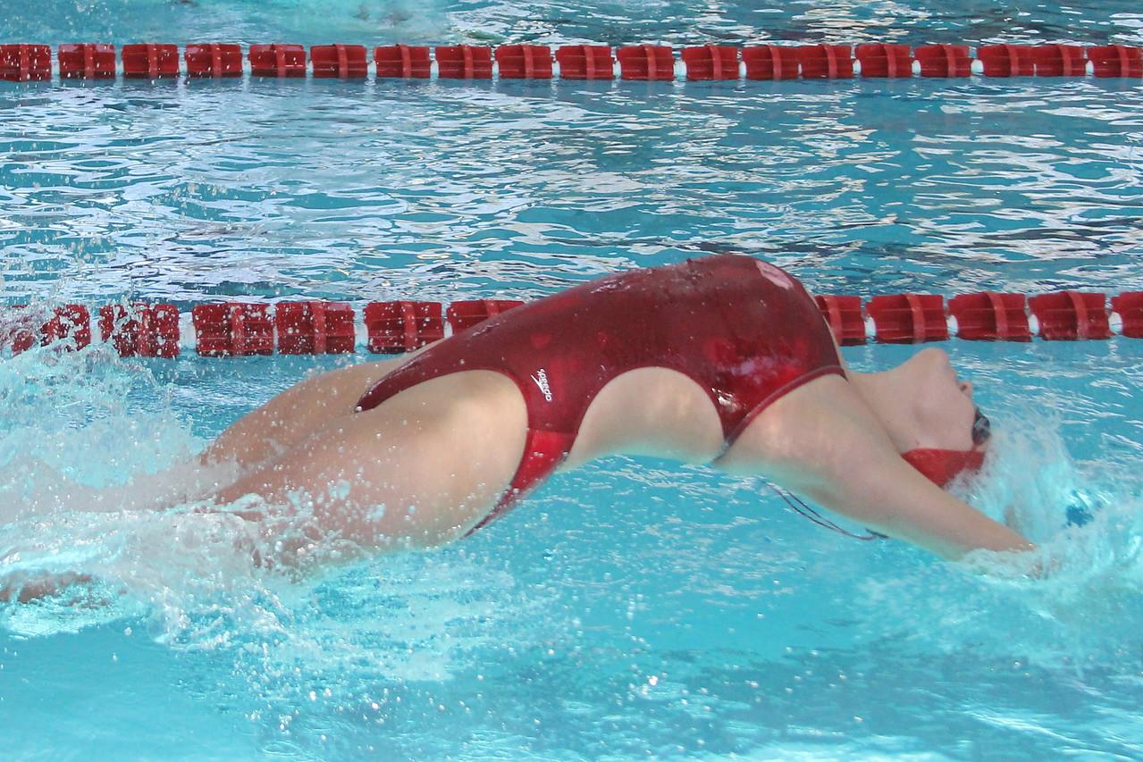 100 meter backstroke.