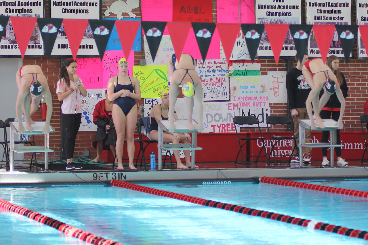 On Saturday, January 10th, GWU women's swim team competed against Georgia Southern.