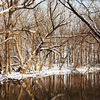 JOED VIERA/STAFF PHOTOGRAPHER-Lockport, NY-Snow covers the trees surrounding Eighteen Mile Creek. Friday, January, 9, 2015