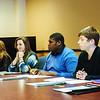 JOED VIERA/STAFF PHOTOGRAPHER- Lockport, NY- Lockport High School students practice job interviewing skills . Thursday, January, 15, 2015