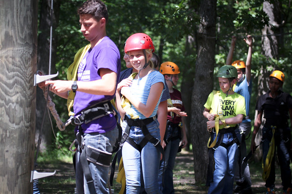 Josh in the background as the CIP group does high ropes