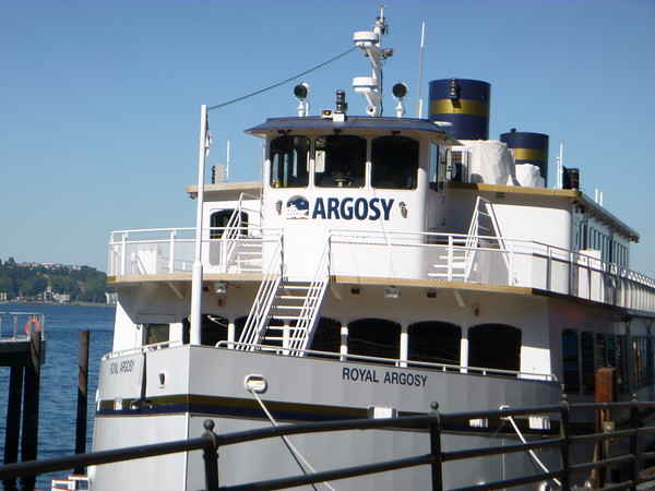 One of the Argosy boats, similar to the one we would ride