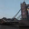 Passing under Tower Bridge.