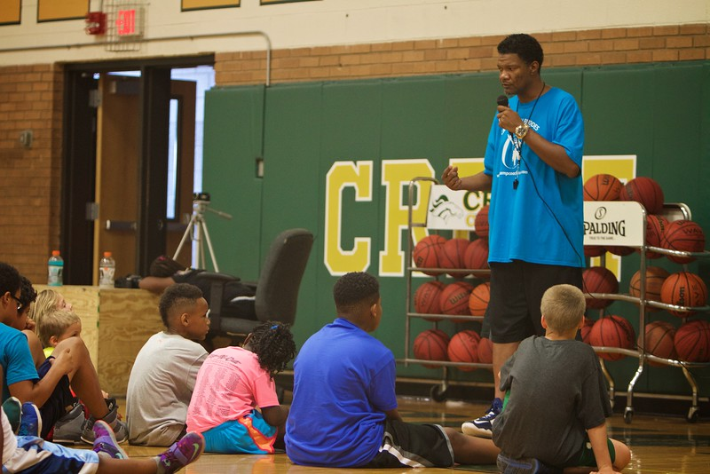 Camp Coach Keith Rhodes; Basketball Camp Summer 2015.