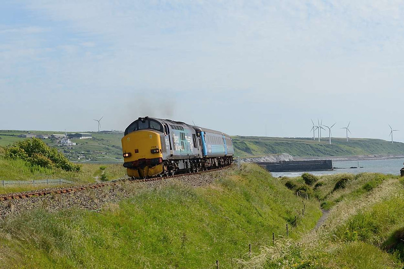10 July 2015 :: 37218 leads 2C41, the 1437 from Barrow-in-Furness to Carlisle on the outskirts of Harrington