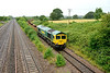 2 July 2015 :: 66585 is seen at Bishton on 6Z52 from Margam to Westbury